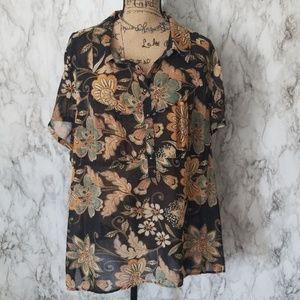 Lane Bryant| Sheer Floral Top